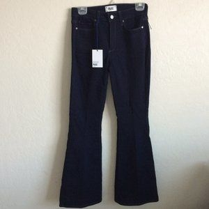 Paige Dark Wash High Rise Bell Canyon Jeans 27